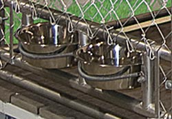double bowl bracket kennel option