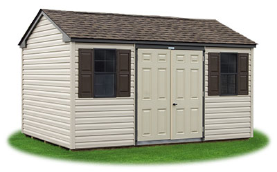 Beautiful New England Style Peak Storage Shed