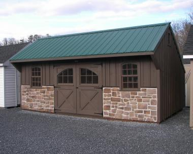Moore Country Pine Creek 12x20 Board n' Batten Carriage House